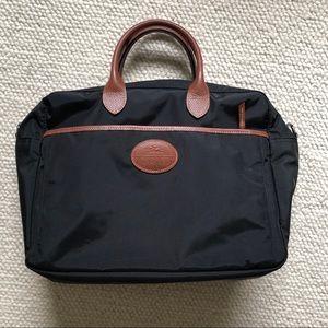 Longchamp Le Pliage black travel tote bag